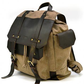 Рюкзак міський Урбан в комбінації тканина+шкіра RSc-6680-4lx TARWA