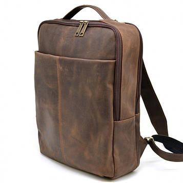 Шкіряний чоловічий рюкзак коричневий RC-7280-3md