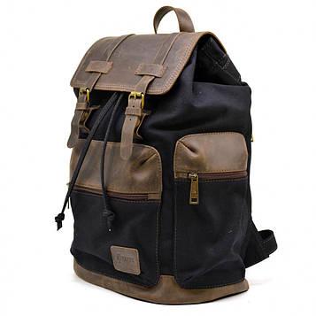 Городской рюкзак RAc-0010-4lx из канваса и натуральной кожи