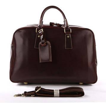 Велика зручна дорожня сумка шкіряна, англійський стиль 7156B