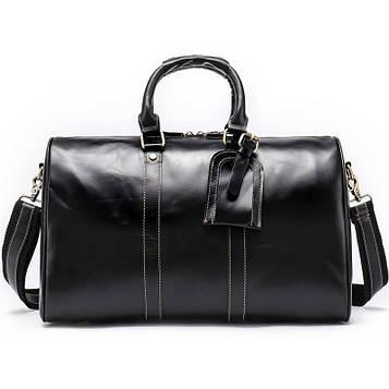 Шкіряна дорожня сумка Joynee B10-9016 чорна