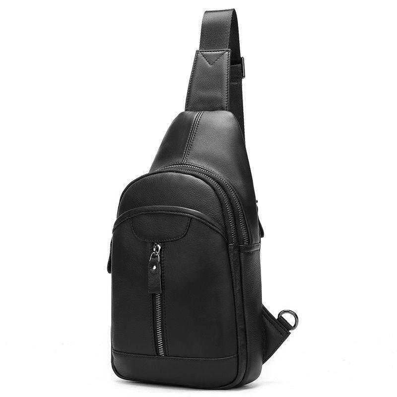 Мини-рюкзак кожаный на одно плечо, черный B10-5007 Joynee