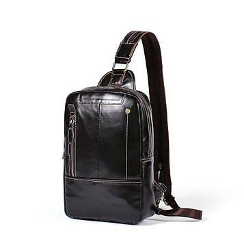 Мини-рюкзак кожаный на одно плечо B10-8210 Joynee