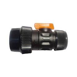 Конектор з краном для шлангів 1/2 і 5/8, IT2140