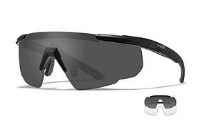 Окуляри Wiley X SABER ADV Smoke/Clear Matte Black Frame