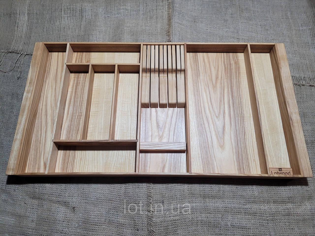 Лоток для столовых приборов P800-890.400 ясень
