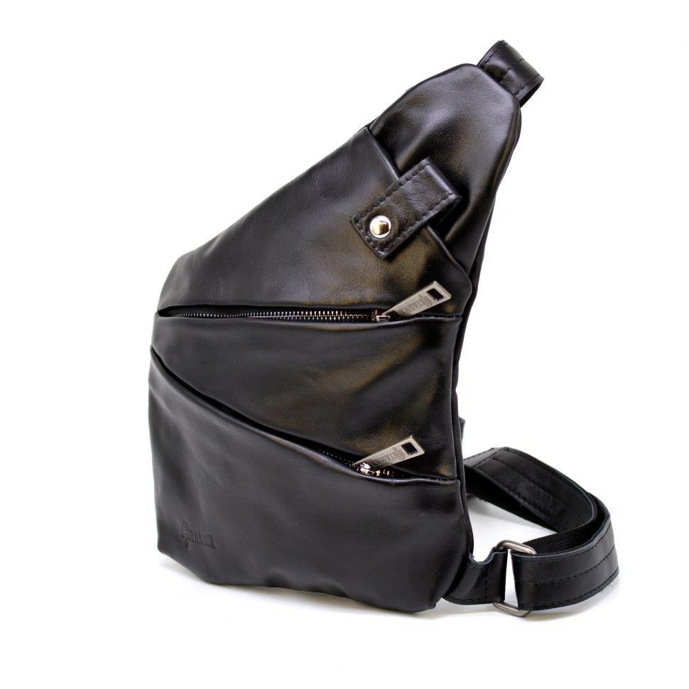 Мужская сумка-слинг через плечо GA-6402-3md черная бренд TARWA