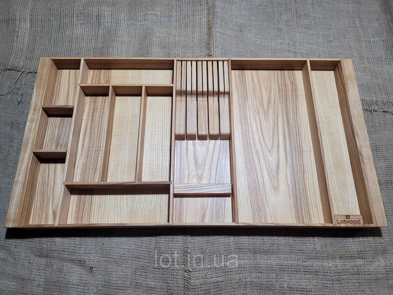 Лоток для столовых приборов PM800-890.400 ясень
