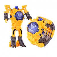 Дитяча іграшка Robot Watch годинник робот-трансформер 2 в 1 Yellow, фото 1