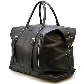 Большая дорожная сумка FA-8310-4lx из натуральной кожи флотар, черная