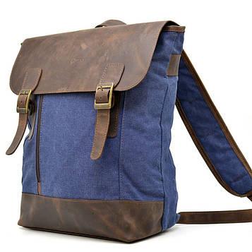 Городской рюкзак , парусина+кожа RК-3880-3md бренд TARWA