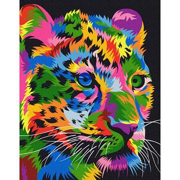 """Картина за номерами """"плямистий Леопард"""""""