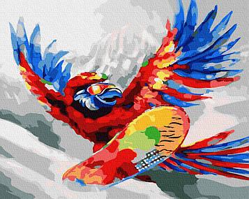 "Картина за номерами ""Яскравий папуга"""