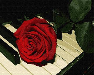 """Картина за номерами """"Роза піаніста"""""""