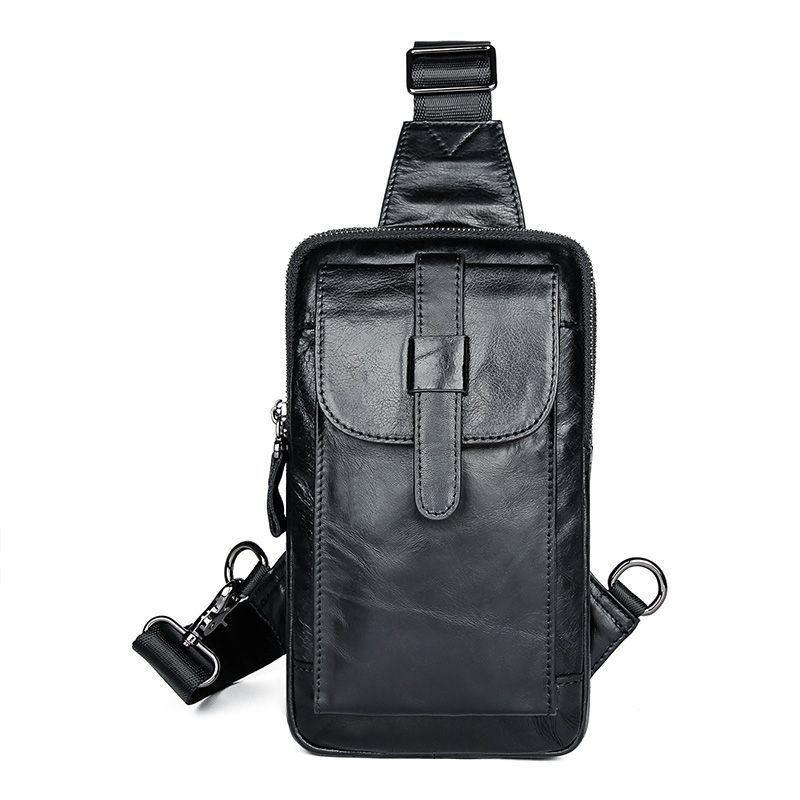 Компактная кожаная сумка JD4017A для мужчин на одной шлейке