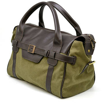 Дорожня комбінована (шкіра+канвас) сумка GH-7079-3md бренду TARWA