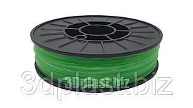 PLA (ПЛА) пластик 3Dplast для 3D принтера 1.75 мм 0.85, прозорий-зелений
