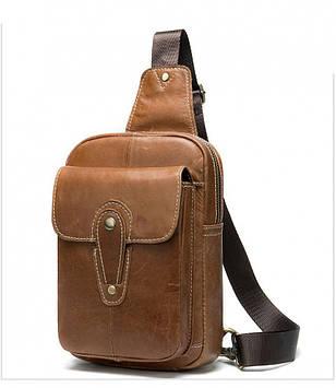 Мини-рюкзак кожаный на одно плечо B10-8573 Joynee