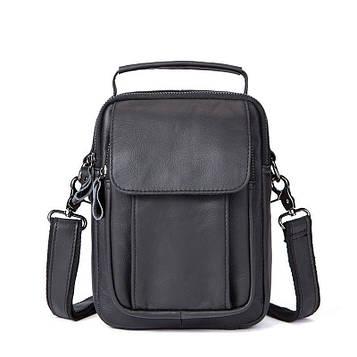 Кожаная мужская сумка через плечо B10-7910