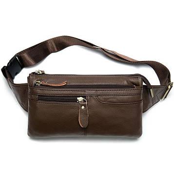 Кожаная напоясная сумка унисекс B10-8943