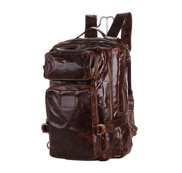 Кожаный рюкзак из винтажной натуральной кожи JD 7039Q
