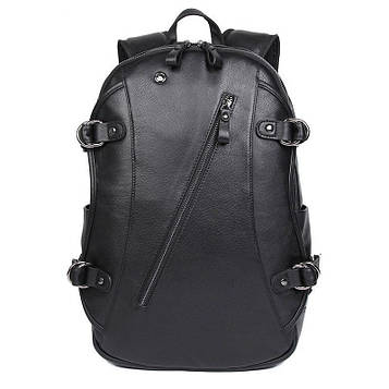 Повсякденний рюкзак JD2018A з натуральної шкіри з вбудованою функцією USB