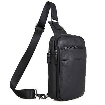 Кожаный мини-рюкзак на одну шлейку John McDee 4002А-1