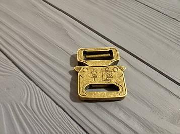 Фастекс металлический 25-27мм, типа Кобра, золото антик