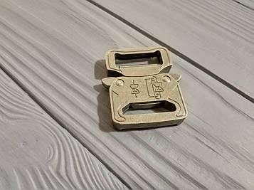 Фастекс металлический 25-27мм, типа Кобра, антик серебро