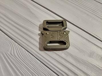 Фастекс металлический 25-27мм, типа Кобра, черный матовый