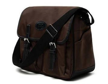 Тканинна чоловіча сумка через плече для фотоапарата 110622BR Doogacci