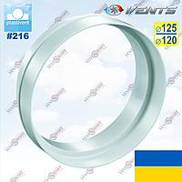 Переходник вентиляционный 120 на 125 (редуктор 216) ПЛАСТИВЕНТ (ВЕНТС, Украина)