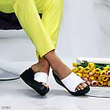 Шльопанці жіночі білі на платформі / танкетці 7,5 см натуральна шкіра, фото 8