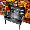 Портативный мангал барбекю переносной Desktop BBQ 44х46 см, Черный раскладной мангал гриль для дачи