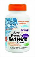 Экстракт красного вина, Doctor's Best – США 60 мг (90 капсул) купить