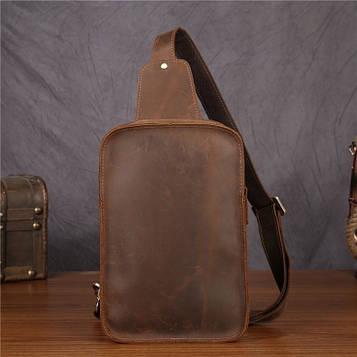 Компактный рюкзак  на моношлейке из натуральной кожи Crazy Horse от Bexhill