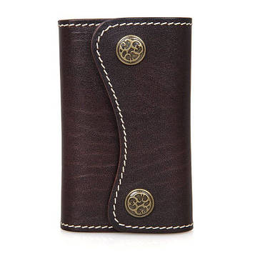 Ключница коричневая из натуральной кожи JD8130Q-1 John McDee