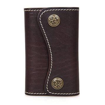 Ключниця коричнева з натуральної шкіри JD8130Q-1 John McDee