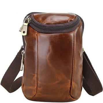 Компактна шкіряна сумка на пояс, на плече Tid4670GQ бренду Tiding
