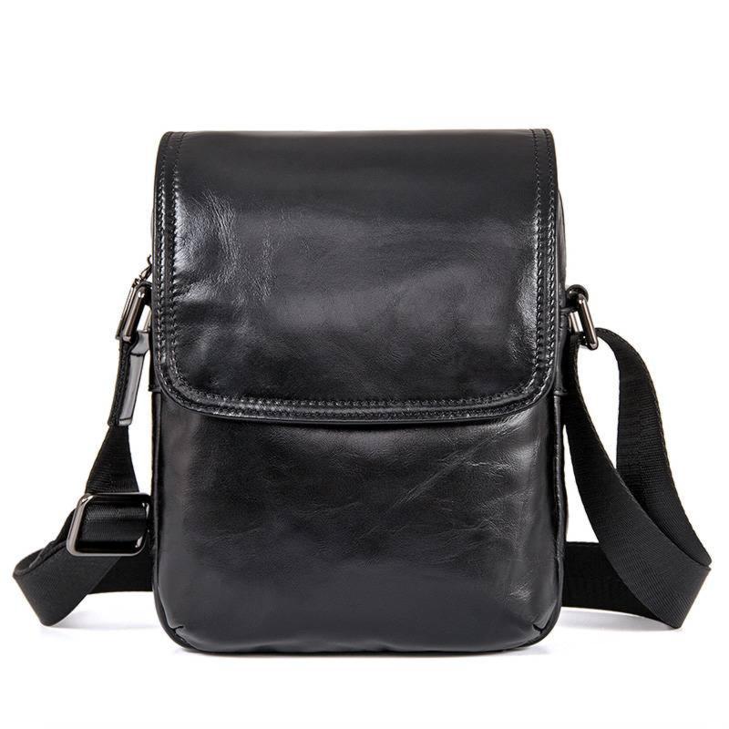 Компактна сумка з натуральної шкіри John McDee 1031A