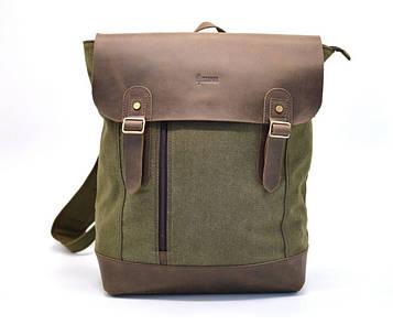 Рюкзак городской, парусина+кожа RH-3880-3md от бренда TARWA
