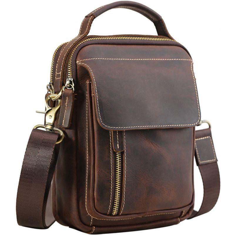 Мужская сумка из кожи Crazy Hourse Р2219FS