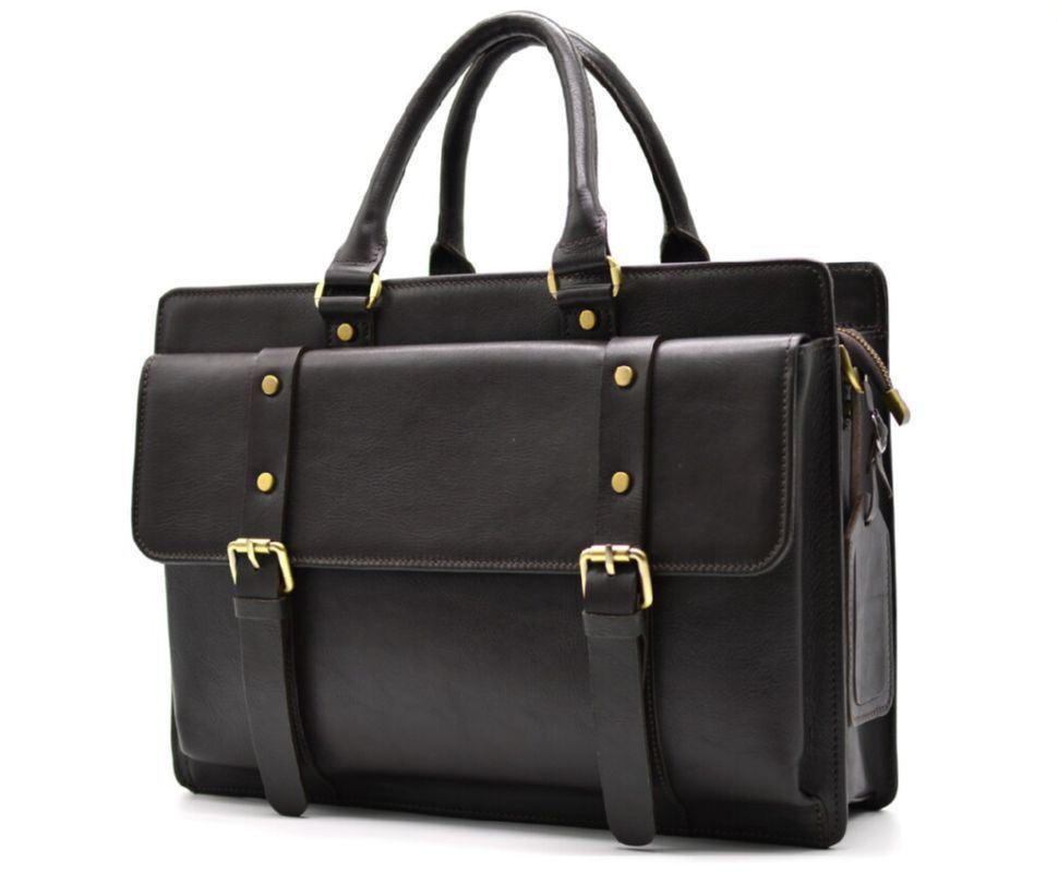 Шкіряна сумка портфель TARWA, TC-4964-4lx темно-коричнева
