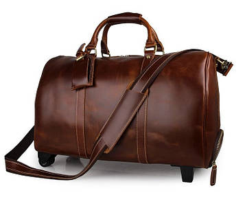 Дорожная кожаная сумка John McDee 7077LB