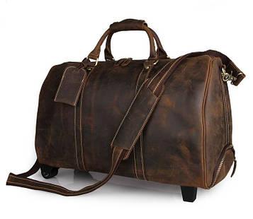 Дорожня сумка на колесах від бренду John McDee 7077LR