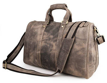 Дорожная кожаная сумка John McDee 7077J
