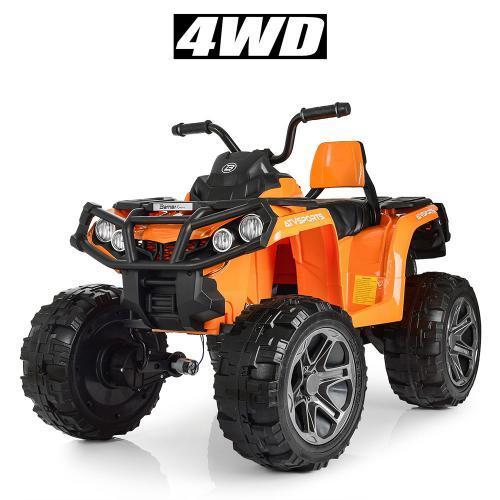 Дитячий квадроцикл M 3999EBLR-7 помаранчевий