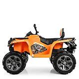 Дитячий квадроцикл M 3999EBLR-7 помаранчевий, фото 3