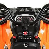 Дитячий квадроцикл M 3999EBLR-7 помаранчевий, фото 4