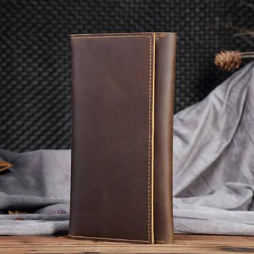 Стильне шкіряне портмоне, колір коричневий, Bexhill, bx0358